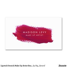 Lippenstift-Muster bilden Künstler-Visitenkarten Visitenkarten