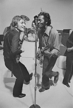 """If you tried to give rock and roll another name, you might call it 'Chuck Berry."" ~ John Lennon // Chuck Berry and John Lennon – Johnny B Goode (Live Rock And Roll, Francisco Javier Rodriguez, The Beatles, John Lennon Beatles, Good Music, My Music, Johnny B Goode, Historia Do Rock, Mundo Musical"