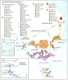 Wine map of Australia