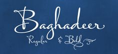 Baghadeer #font – personality by the hand of a master http://www.fontmatters.com/baghadeer-font/