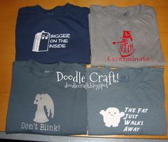 Doodle Craft...: Dr. Who T-Shirts!