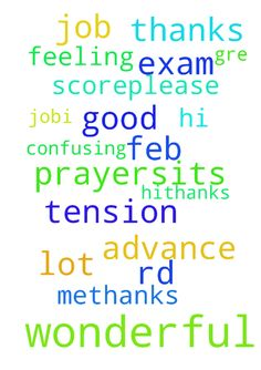 hi.thanks for doing prayers.its a wonderful job.i have - hi.thanks for doing prayers.its a wonderful job.i have GRE exam on feb 3rd i am feeling so tension about it and also confusing  a lot. So please do prayer for me to get good score.please please do prayer for me.thanks in advance. Posted at: https://prayerrequest.com/t/3K1 #pray #prayer #request #prayerrequest