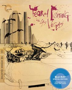 2011 Terry Gilliam - Fear and Loathing in Las Vegas (Blu-Ray) [The Criterion Collection] cover artworks: Ralph Steadman #albumcover #Gonzo #Cult