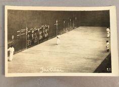 Vintage-Rppc-Photo-Jai-Alai-Baseball