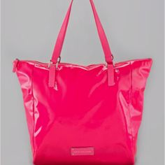 The perfect bright pink bag to match your bright pink bathing suit