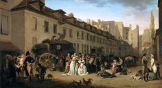 Louis-Léopold Boilly - The Arrival of a Stage-coach in the Courtyard of the Messageries 1803
