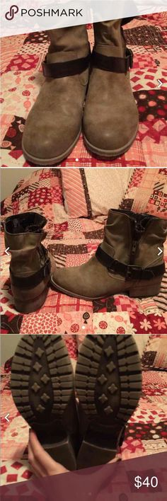 Jellypop booties like new size 9 Brown, tan, and grey booties with buckle. Shoes Ankle Boots & Booties