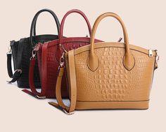 Retro style genuine cow Leather tote Handbag