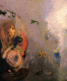 art of the beautiful-grotesque: Odilon Redon : Colour