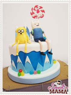 Adventure Time cake by Sweetmama
