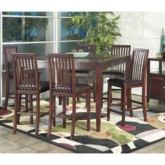 American Lifestyle - Anders 7 Pc Pub Dining Set | Overstock.com