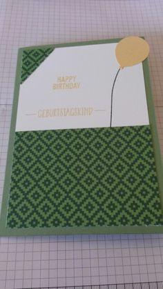 Geburtstagskarte Grün
