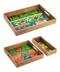 Look what I found on #zulily! Peace Serving Tray Set #zulilyfinds