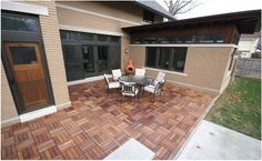 """DIY - easy to install 12""""x12"""" Deck Tiles, They clip together! available pre-oiled ready to install!"""