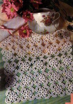 Kira scheme crochet: Scheme crochet no. Crochet Tablecloth, Crochet Doilies, Crochet Lace, Filet Crochet, Tatting Lace, Crochet Scarves, Free Pattern, Diy And Crafts, Projects To Try