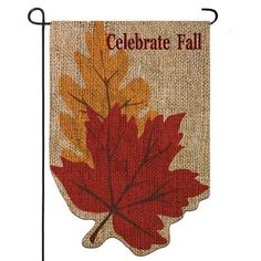 """Burlap Welcome Fall Leaves Garden Flag 
