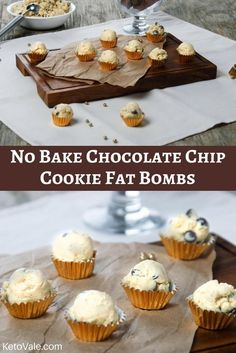 No Bake Chocolate Chip Cookie Fat Bombs
