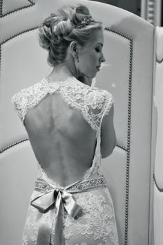 LOVE the back of this gown.