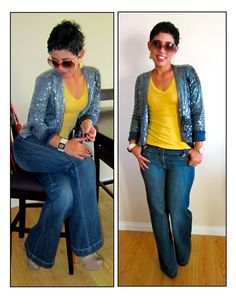 Fashion, Lifestyle, and DIY: what I Wore | Denim & Sequin!