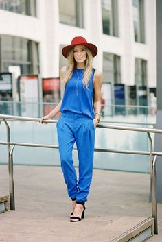 blue romper! love it! #summerstyle #romper #blue
