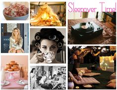Adult pajama party inspiration board! This is a memory that needs reliving :)