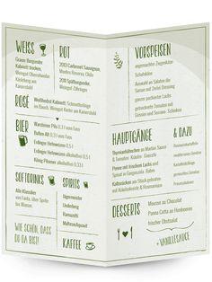 """Menükarte """"Gartentraum""""   Hochzeitskarten von Designern"""