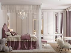 """Start a new project in the residential complex """"festival."""" The area of the apartment of 180 square meters. Room Design Bedroom, Girl Bedroom Designs, Home Room Design, Bedroom Decor, Luxury Bedroom Sets, Luxurious Bedrooms, Teen Lounge Rooms, Teenage Girl Room Decor, Dream Rooms"""