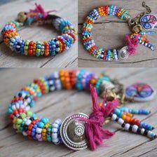 Boho bracelet Ethnic Tribal bracelet Hippie Silver tag | Etsy Gypsy Bracelet, Hippie Bracelets, Shell Bracelet, Strand Bracelet, Personalized Bracelets, Handmade Bracelets, Beaded Rings, Beaded Bracelets, Leather Fringe