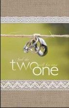 Bulletin-And The Two Will Become One (Wedding) (Pa  (Package of 100) [Paperback]