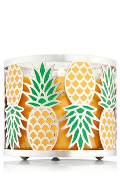 Amazon.com: Bath & Body Works Pineapple 3 Wick Candle Sleeve Holder: Home & Kitchen