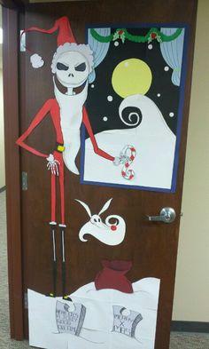 christmas door decorating contest nightmare before christmas jack skellington