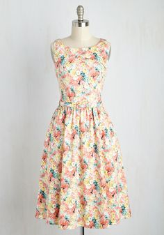 Strum as You Are Dress. Jamming some bright acoustic tunes in this equally vibrant floral dress, you quickly corral a crowd to your park bench. #multi #modcloth