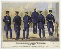 Metropolitan police uniforms, July 1871