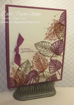 Stampin' Up!, DIY Crafts, Vintage Leaves, Petite Pairs, Gorgeouls Grunge, handmade birthday cards. One of the 3 September Online Class Cards you will receive with a $35 minimum order in my online store by September 30, 2015! See my blog for more info!