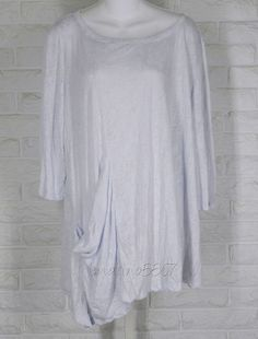 CHALET Burnout Leaf Print Angle Hem Ona Tunic Light Blue NWT Ladies Large in Clothing, Shoes & Accessories, Women's Clothing, Tops & Blouses   eBay