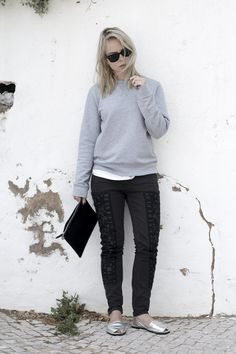 handvaerk sweater isabel marant jeans riudavets sandals silver fashion blog outfit