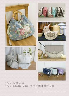 Free Japanese Sewing Patterns | Free Japanese Sewing Patterns – Studio Clip | Pouches, Wallets ...