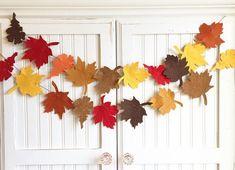 "Pre-Order (will ship beginning of October) ""Felt Fall Leaves"" Bunting Banner ~ Burlap, Felt, Thanksg Diy Banner, Bunting Banner, Fun Crafts, Arts And Crafts, Fall Leaf Garland, Felt Leaves, Ideas Para Fiestas, Happy Fall Y'all, Fall Diy"