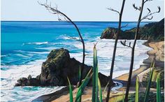 New Zealand artists portray the west coast of Auckland. Contemporary artists show their beach pictures with humour, detail or in a celebration of vibrant colours. Nz Art, Auckland New Zealand, Kiwiana, Digital Printer, Famous Landmarks, Beach Scenes, Beach Pictures, Limited Edition Prints, Contemporary Artists