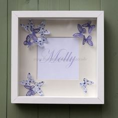 I'm selling Personalised Butterfly Box Frame - Box Frame Art, Name Frame, Box Frames, Scrabble Crafts, Scrabble Art, Butterfly Wall Art, Paper Butterflies, Craft Activities For Kids, Crafts For Kids