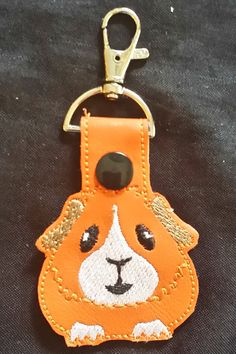 Guinea Pig Key Chain snap tab key fob by SusiesSpot on Etsy
