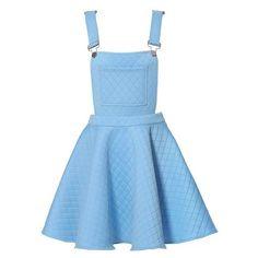 ROMWE Rhombus Suspender Skirt ❤ liked on Polyvore