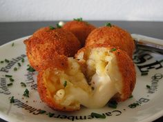 arancini di riso.  these little balls of risotto and cheese are so amazing.  appetizers or with a salad.  delicious italian goodness.