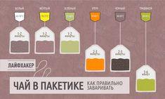 ИНФОГРАФИКА: Как надо заваривать чай впакетиках - Лайфхакер