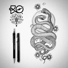 blackwork snake - Google Search