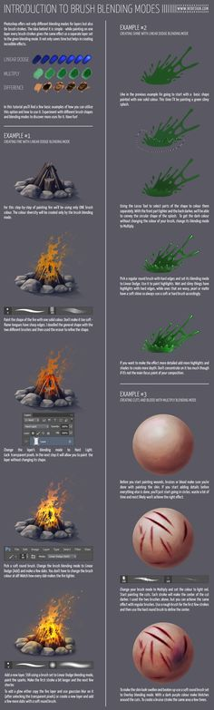 Brush blending modes - tutorial by vesner on deviantART via cgpin.com