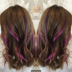 Ribbons of fashioncolor using Joico Instagram @my_lavish_looks #fashioncolor  #peekaboo #pinkhair #purplehair