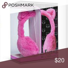 LAST ONE! Fuzzy Cat Ears Headphones! Ships Same-Next Business Day Guaranteed!   Only 1 Left, Get it While You Can!   These Black Fuzzy Headphones Are Just As Cute As They Are Practical! High Quality Sound & Super Cute Cat Ears Make This A Great Gift for Anyone! Cord is 4 Feet Long!  Perfect Gift for Christmas, Any Girl Will Love These!! Accessories