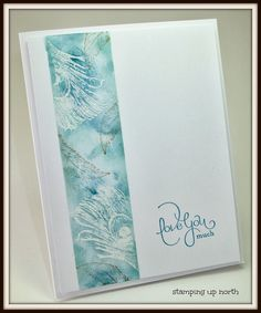 stamping up north with laurie: Emboss resist Stampin Up Fine feathers