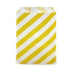Yellow Striped Favor Bags, 24-pack(($))